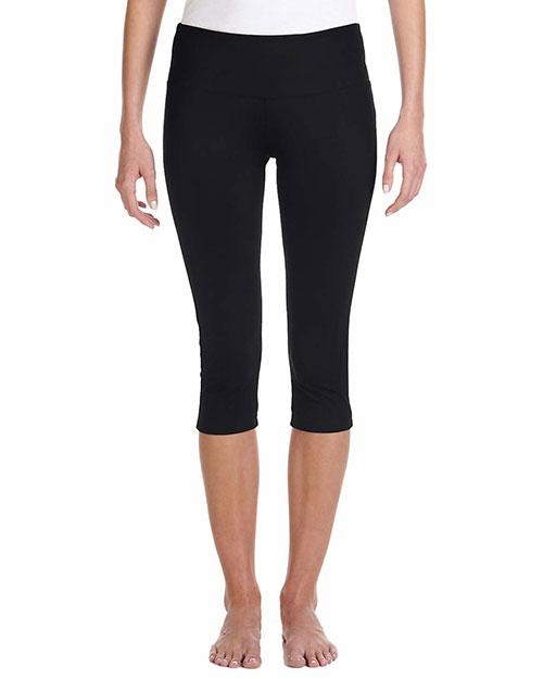 Bella 0811 Women Cotton/Spandex Capri Fit Legging Black at bigntallapparel