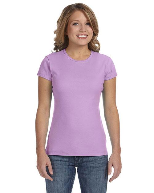 Bella 1001 Women Baby Rib Short-Sleeve T-Shirt Lilac at bigntallapparel