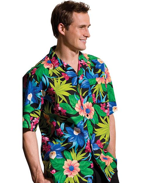 Edwards 1015 Men  Hawaiian Camp Shirt Green at bigntallapparel