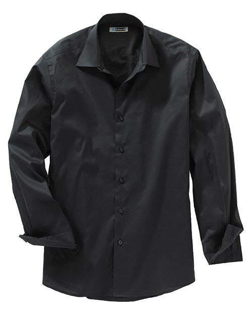 Edwards 1033 Men Long Sleeve Spread Collar Dress Shirt Black at bigntallapparel