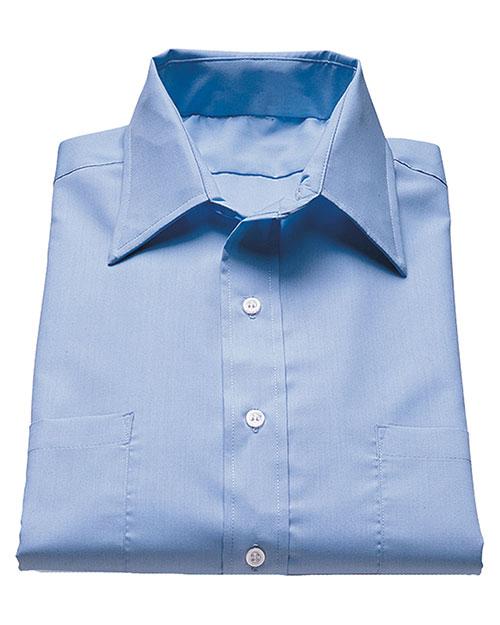 Edwards 1110 Women Traditional Short Sleeve Broadcloth Shirt blue at bigntallapparel