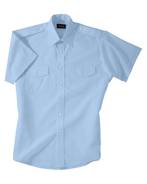 Edwards 1212 Women Short Sleeve Navigator Shirt blue at bigntallapparel