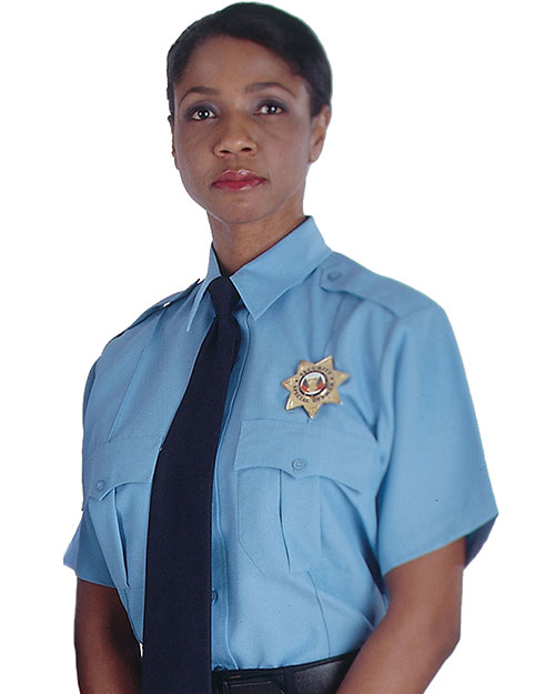 Edwards 1225 Women Security Short Sleeve Shirt blue at bigntallapparel