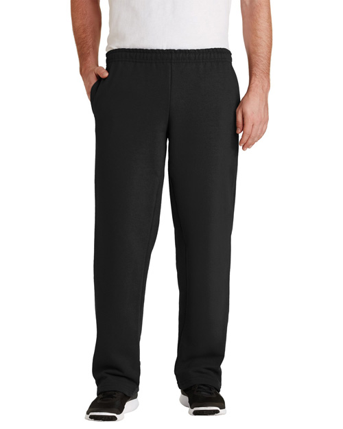 Gildan 12300 Men Ultra Blend Open Bottom Sweatpant Black at bigntallapparel