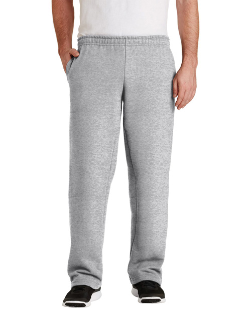 Gildan 12300 Men Ultra Blend Open Bottom Sweatpant Sport Grey at bigntallapparel