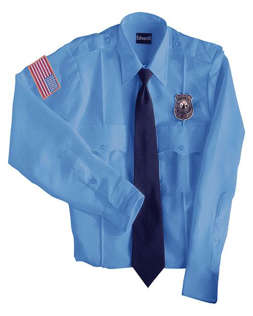 Edwards 1275 Women Security Long Sleeve Shirt 100% Polyester blue at bigntallapparel