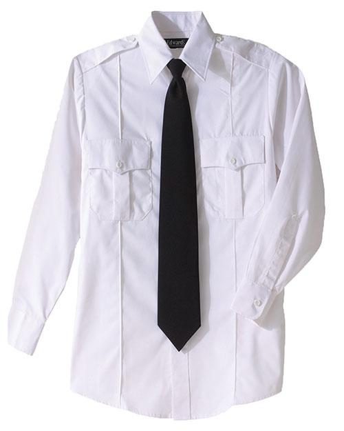 Edwards 1276 Men  Security Long Sleeve Shirt Polyester/Cotton Blend White at bigntallapparel
