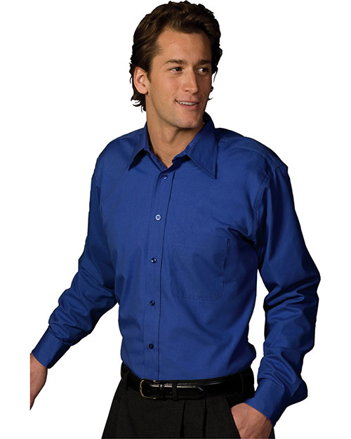 Edwards 1287 Women Easy Care Poplin Point Collar Shirt Royal at bigntallapparel