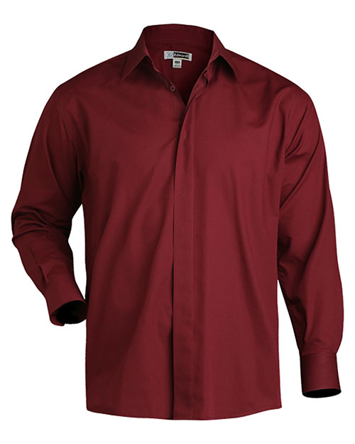 Edwards 1290 Women Long Sleeve Cafe Shirt Burgundy at bigntallapparel