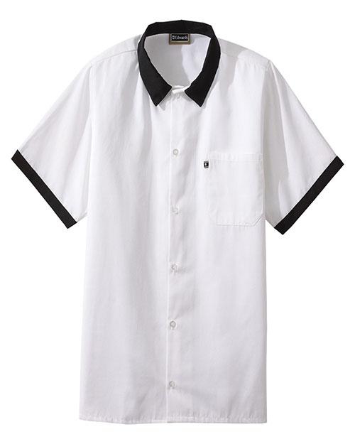 Edwards 1304 Men  Cook Shirt Black at bigntallapparel