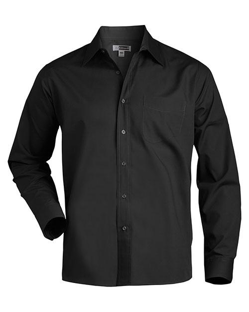 Edwards 1363 Men Long Sleeve Value Broadcloth Shirt Black at bigntallapparel