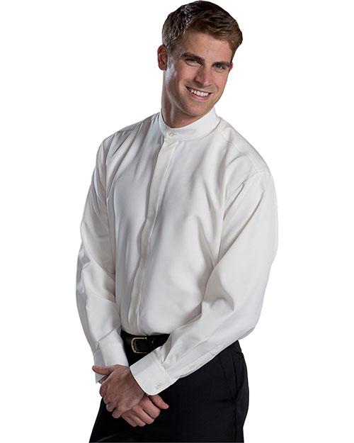 Edwards 1392 Women Batiste Banded Collar Shirt Cream at bigntallapparel