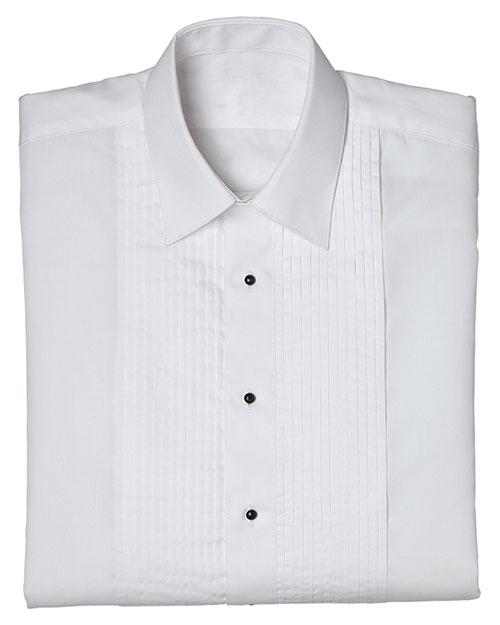 Edwards 1393 Women Tuxedo Shirt 1/4 Pleat White at bigntallapparel