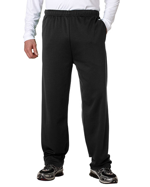 Badger 1478 Men Performance Openbottom Poly Fleece Pants Black at bigntallapparel