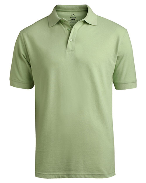 Edwards 1500 Men Short Sleeve Soft Touch Blended Pique Polo Cucumber at bigntallapparel