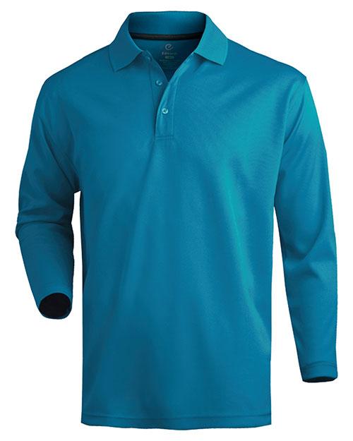 Edwards 1578 Men  Dry-Mesh Long Sleeve Polo Marina Blue at bigntallapparel