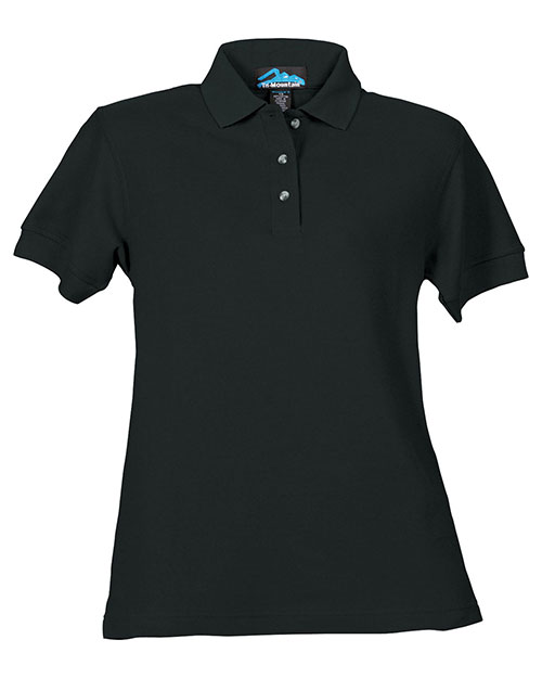 Tri-Mountain 166 Women Cotton Pique Golf Shirt Black at bigntallapparel
