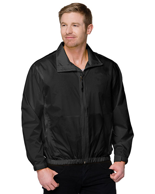 Tri-Mountain 1700 Men Unlined Nylon Jacket Black at bigntallapparel