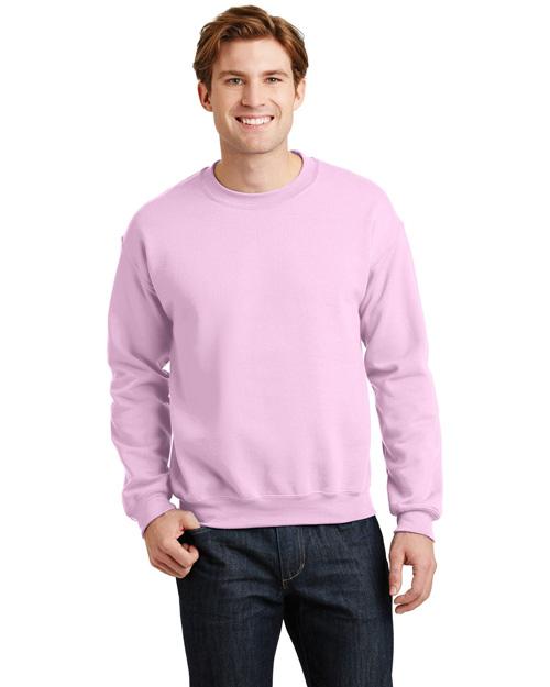Gildan 18000 Men Heavy Blend Crewneck Sweatshirt Light Pink at bigntallapparel