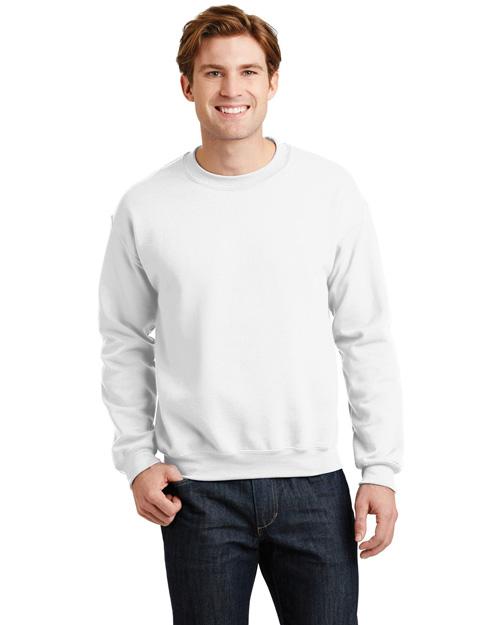 Gildan 18000 Men Heavy Blend Crewneck Sweatshirt White at bigntallapparel