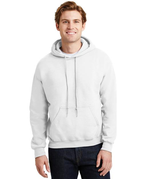 Gildan 18500 Men Heavy Blend Hooded Sweatshirt White at bigntallapparel