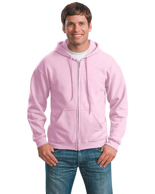 Gildan 18600 Men Heavy Blend Full Zip Hoodie Light Pink at bigntallapparel
