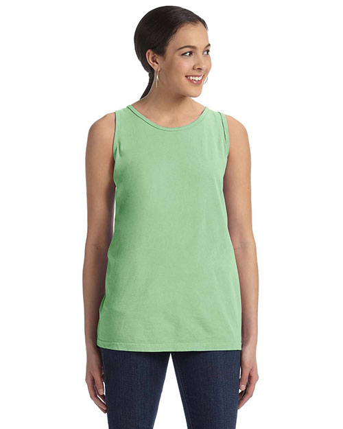 Authentic Pigment 1972 Women 5.6 Oz. Pigment-Dyed & Direct-Dyed Ringspun Tank Cricket Green at bigntallapparel