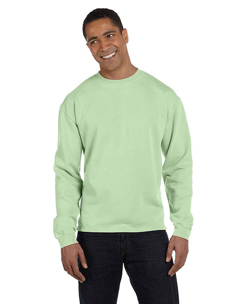 Authentic Pigment 1983 Men  10 Oz. Pigment-Dyed Boxy Crew Celery at bigntallapparel