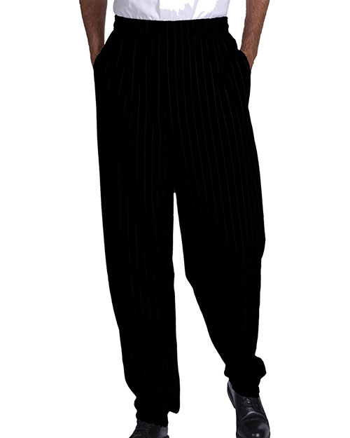 Edwards 2001 Men  Traditional Baggy Chef Pant Black at bigntallapparel