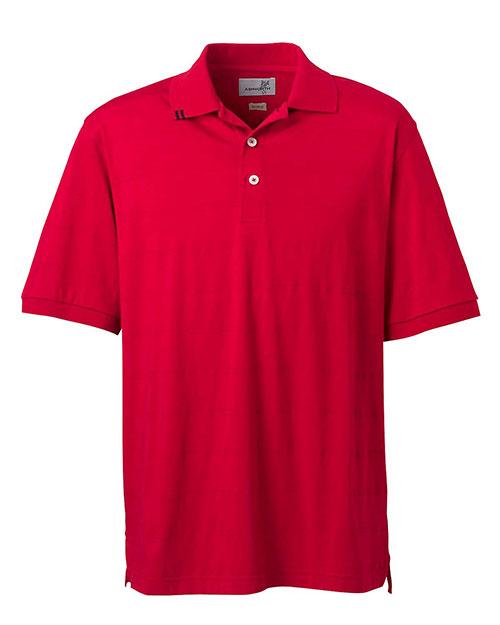 Ashworth 2013 Men Ez-Tech Jersey Textured Stripe Polo Carmine Red at bigntallapparel