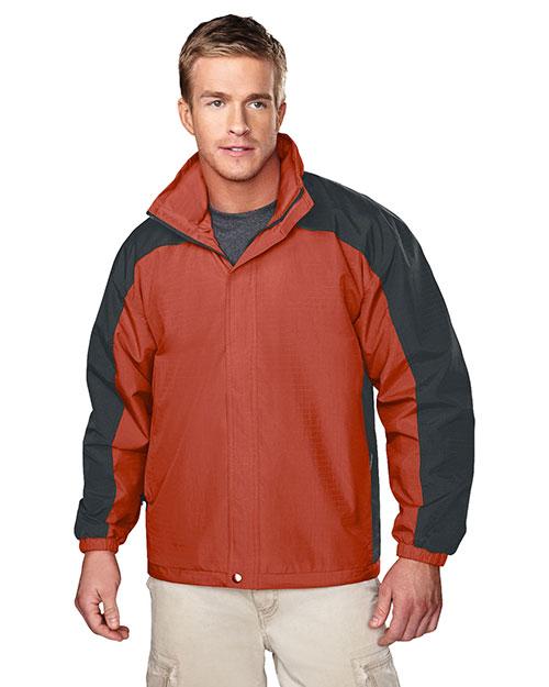 Tri-Mountain 2100 Men  Ripstop Nylon Jacket With Mesh Lining Clay/Charcoal at bigntallapparel