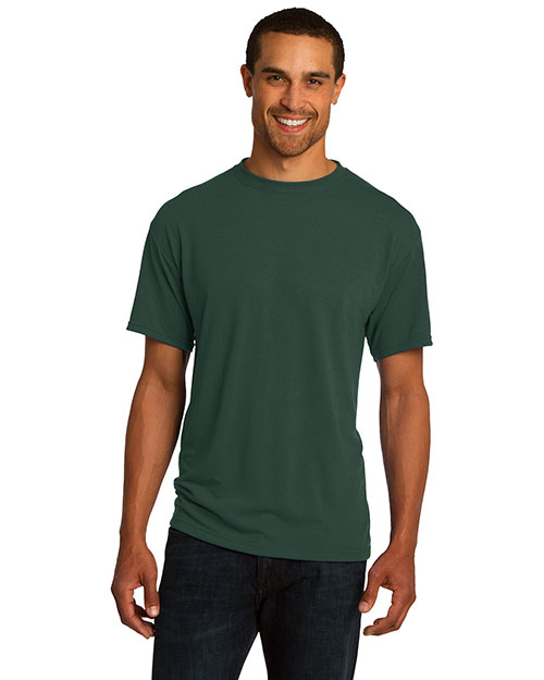 Jerzees 21M Men  Moisture Management T Shirt Forest Green at bigntallapparel
