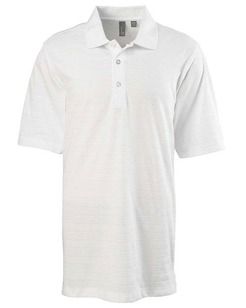 Ashworth 2203C Men Ez-Tech Short-Sleeve Textured Polo White at bigntallapparel