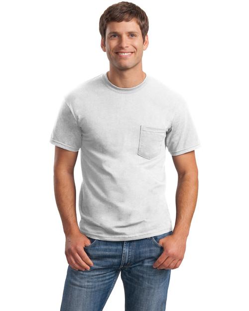 Gildan 2300 Men Ultra 100% Cotton T Shirt With Pocket White at bigntallapparel
