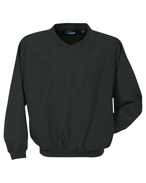 Tri-Mountain 2500 Men Microfiber Windshirt With Nylon Lining Black at bigntallapparel