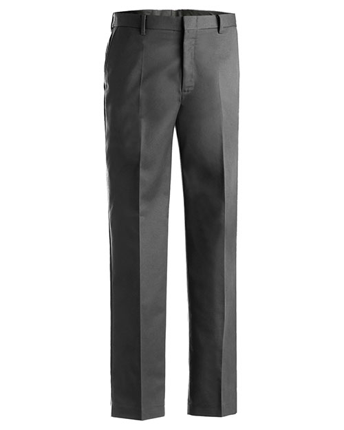 Edwards 2510 Men Business Casual Flat Front Pant Dark Grey at bigntallapparel