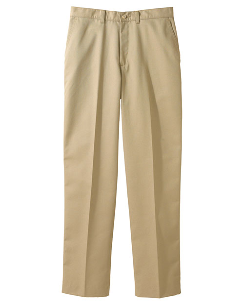 Edwards 2570 Men Blended Chino Flat Front Pant Tan at bigntallapparel