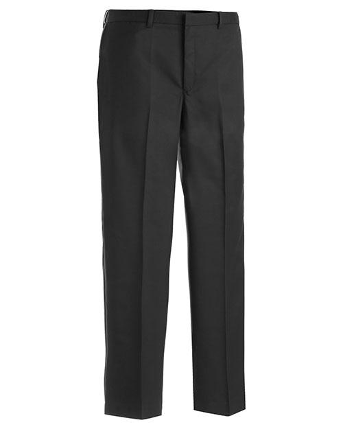 Edwards 2574 Men Microfiber Flat Front Pant Black at bigntallapparel