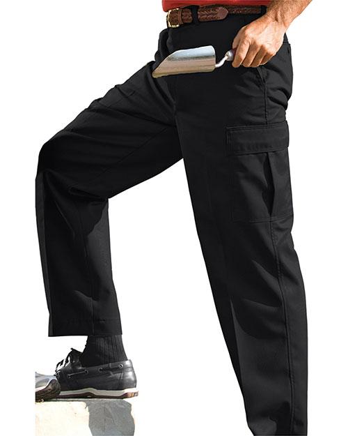 Edwards 2575 Men Blended Chino Cargo Pant Black at bigntallapparel