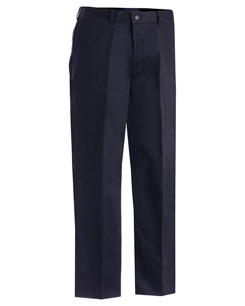 Edwards 2577 Women Washable Wool Blend Pleated Pant Navy at bigntallapparel
