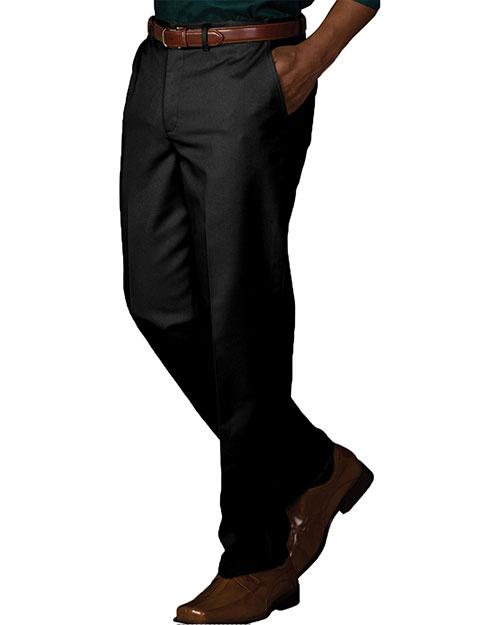 Edwards 2578 Men Easy Fit Chino Flat Front Pant Black at bigntallapparel