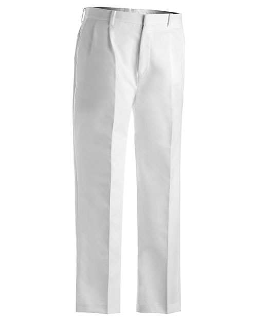 Edwards 2610 Men Business Casual Pleate Pant White at bigntallapparel