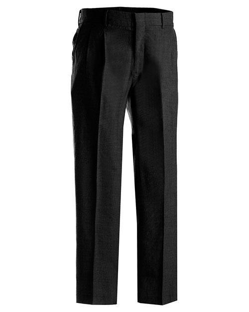 Edwards 2620 Men Washable Wool Blend Pleated Pant Black at bigntallapparel