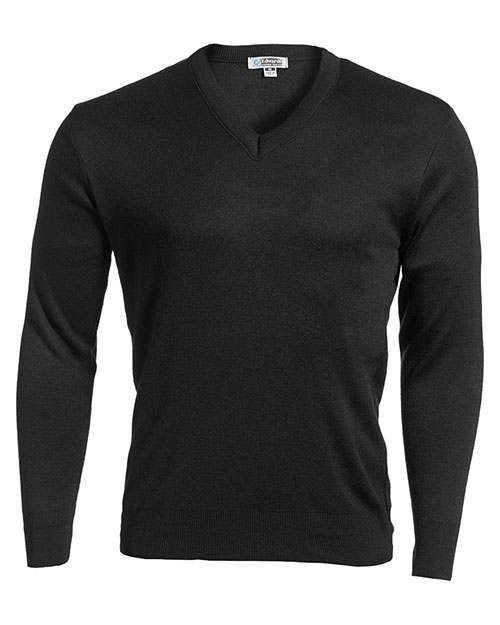 Edwards 265 Women  Value V-Neck Sweater Black at bigntallapparel