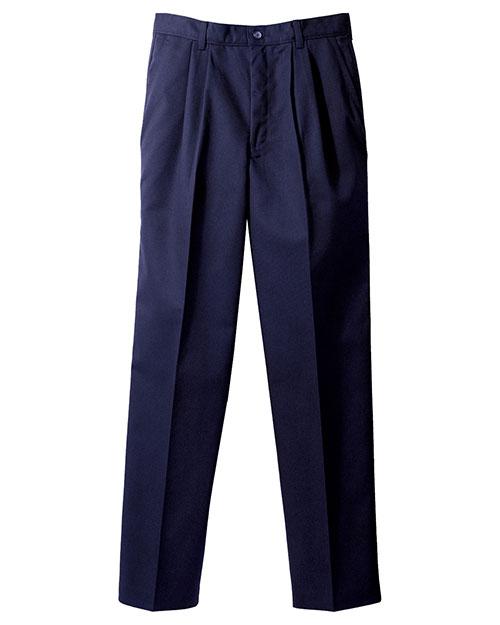 Edwards 2670 Men Blended Chino Pleated Pant Navy at bigntallapparel