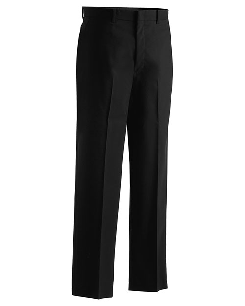 Edwards 2720 Men Washable Wool Blend Flat Front Pant Black at bigntallapparel