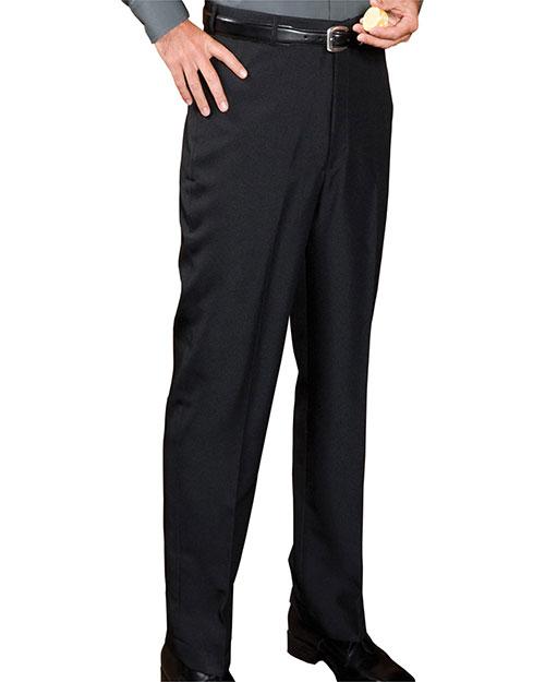 Edwards 2795 Men Polyester No Pocket Flat Front Casino Pant Black at bigntallapparel