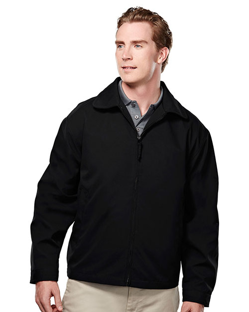 Tri-Mountain 2990 Men Soft Twill Jacket With Nylon Lining Black at bigntallapparel