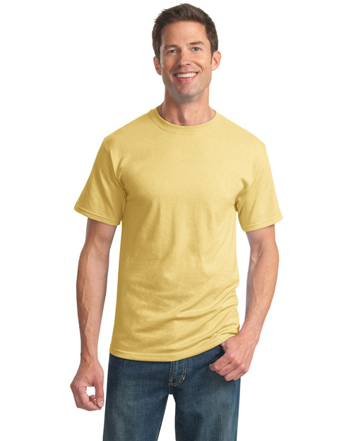 Jerzees 29M Women  50/50 Poly Cotton 56ounce Tshirt Yellow Haze at bigntallapparel