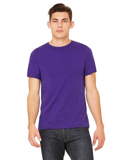 Canvas 3001U Men  Made In The Usa 4.2 Oz. Jersey T-Shirt Team Purple at bigntallapparel